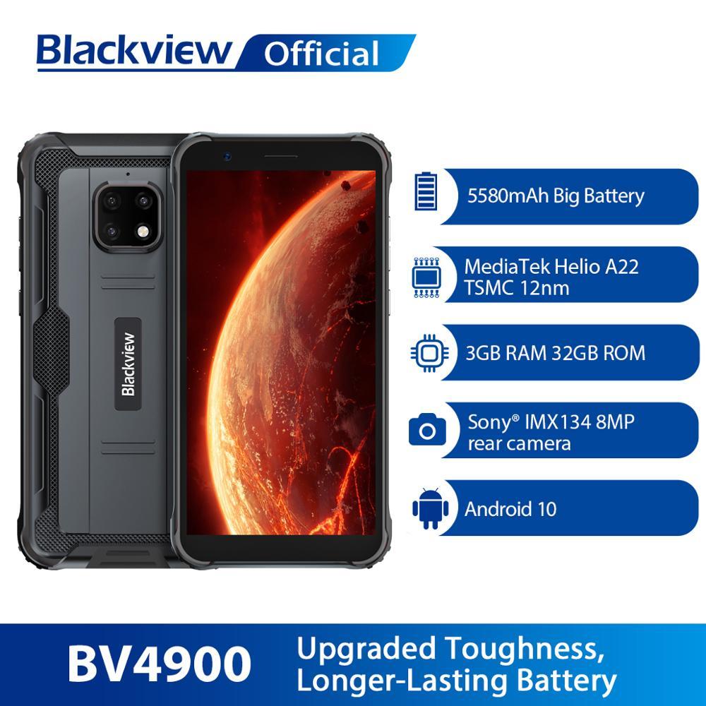 Смартфон Blackview BV4900, прочный, водонепроницаемый, IP68, 3 ГБ + 32 ГБ, мобильный телефон, 5580 мАч, 5,7 дюйма, на базе Android 10, телефон NFC