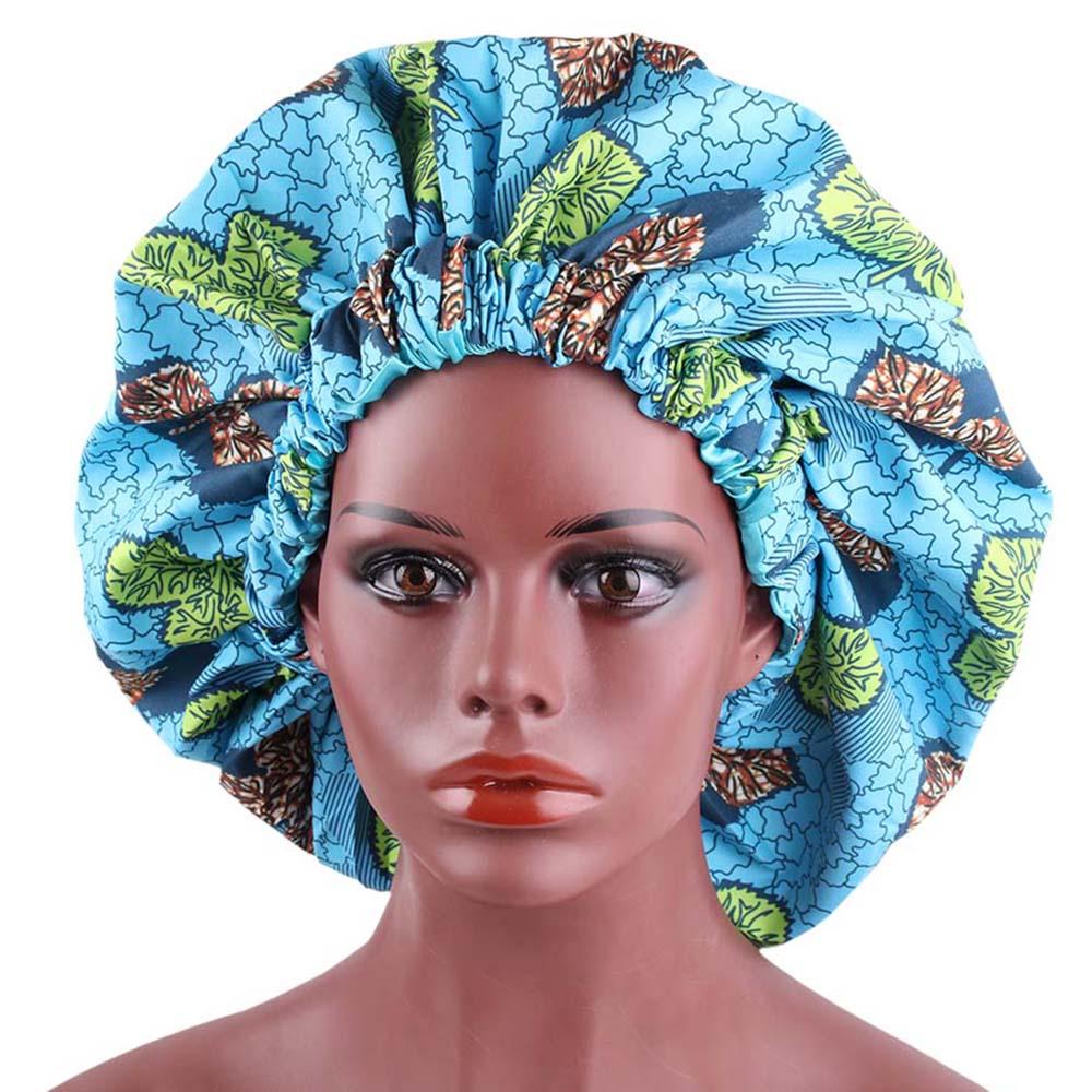 African Bonnet Print Pattern  Women Satin Lined Bonnets Extra Large Size Turban