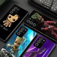i am groot marvel for samsung galaxy s21 s20 fe ultra lite s10 5g s10e s9 s8 s7 s6 edge plus black soft phone case
