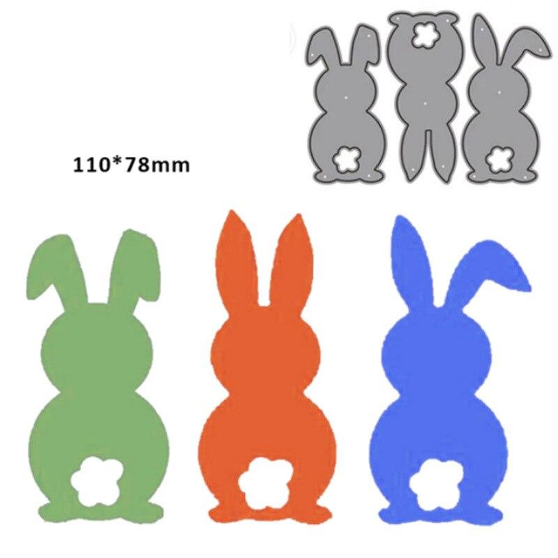 Декоративный Пасхальный кролик металлический Трафаретный вырубной штамп для скрапбукинга Бумага ремесло Ножи пресс-форма для DIY штамп для ...