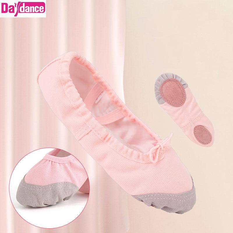 Танцевальная обувь для девочек; Балетки на плоской подошве; Балетки для танцев; Мягкие балетки; Женская парусиновая обувь для тренировок