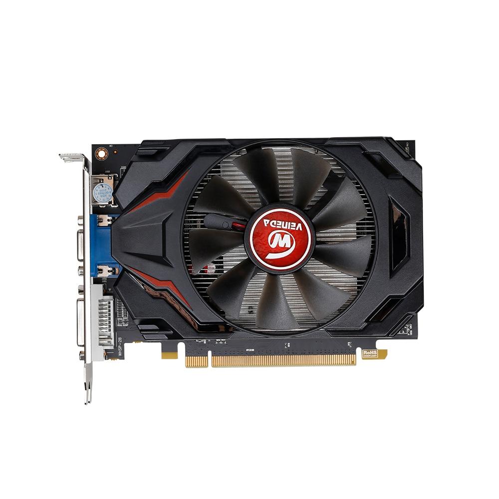 Veineda بطاقة جرافيكس R7 350 2GB gddr5المكتبي وحدة معالجة الرسومات 128Bit لعبة مستقلة R7-350 بطاقة الفيديو ل ATI Radeon الألعاب