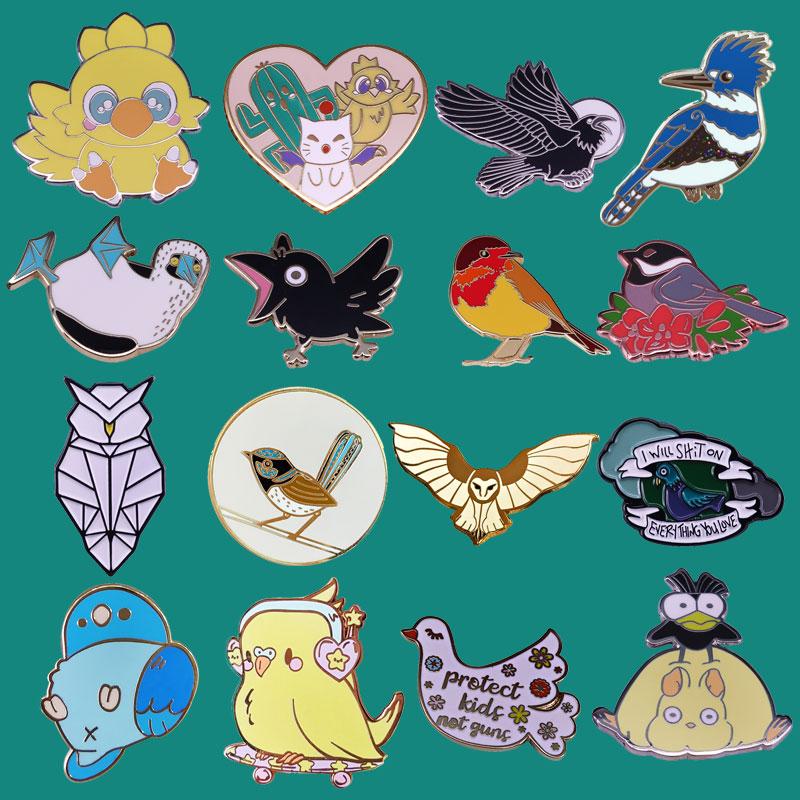 Милая птица на эмали, брошь, Коллекционирование Ворон и Чокобо, значки на лацканах для мужчин и женщин, модные украшения, подарки, украшение, ...