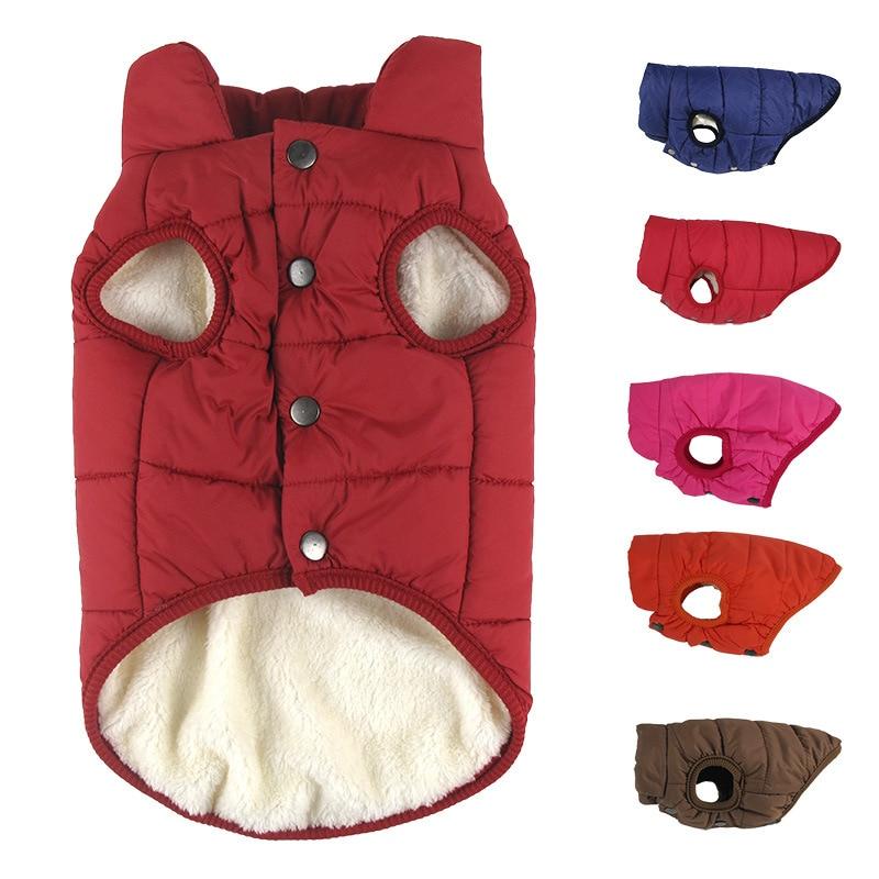 Теплая женская зимняя одежда с воротником-хомутом, одежда для щенка, костюм для собак, кошек, чихуахуа, одежда, утепленный жилет