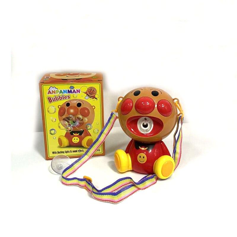 Música elétrica luz bolha máquina anpanman máquina de sabão bolha fabricante brinquedos ao ar livre para crianças brinquedos do miúdo