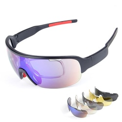 Poc óculos de bicicleta incomuns das mulheres ciclismo óculos tático masculino polarizado para a motocicleta esporte óculos de sol 5 lentes