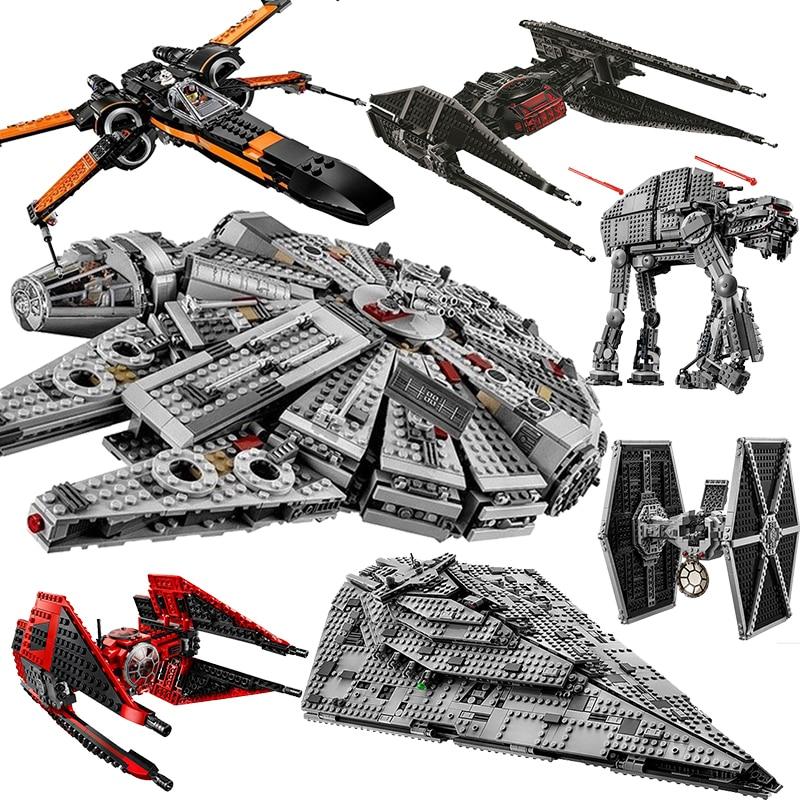 Disney Star Wars plus récent la montée de Skywalke assemblage de blocs de construction modèle la Force réveille bricolage jouet de brique à construire pour les enfants