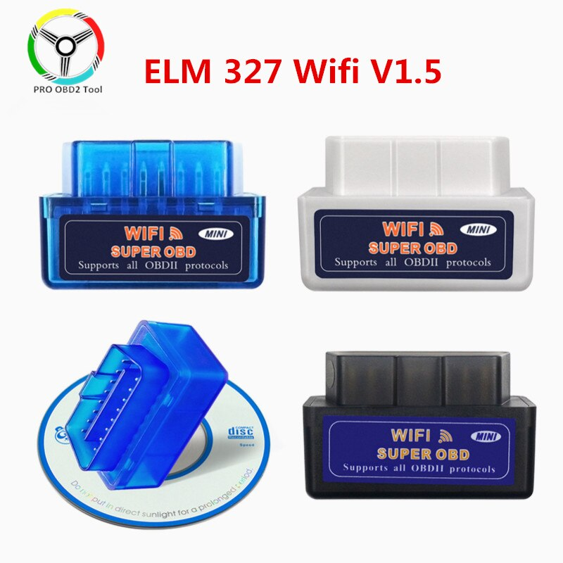 New Super Mini ELM 327 V1.5 WiFi OBD2 ELM327 V 1 5 WI-FI OBDII Diagnostic Tool for Android/Ios/Windows/PC obd Scanner