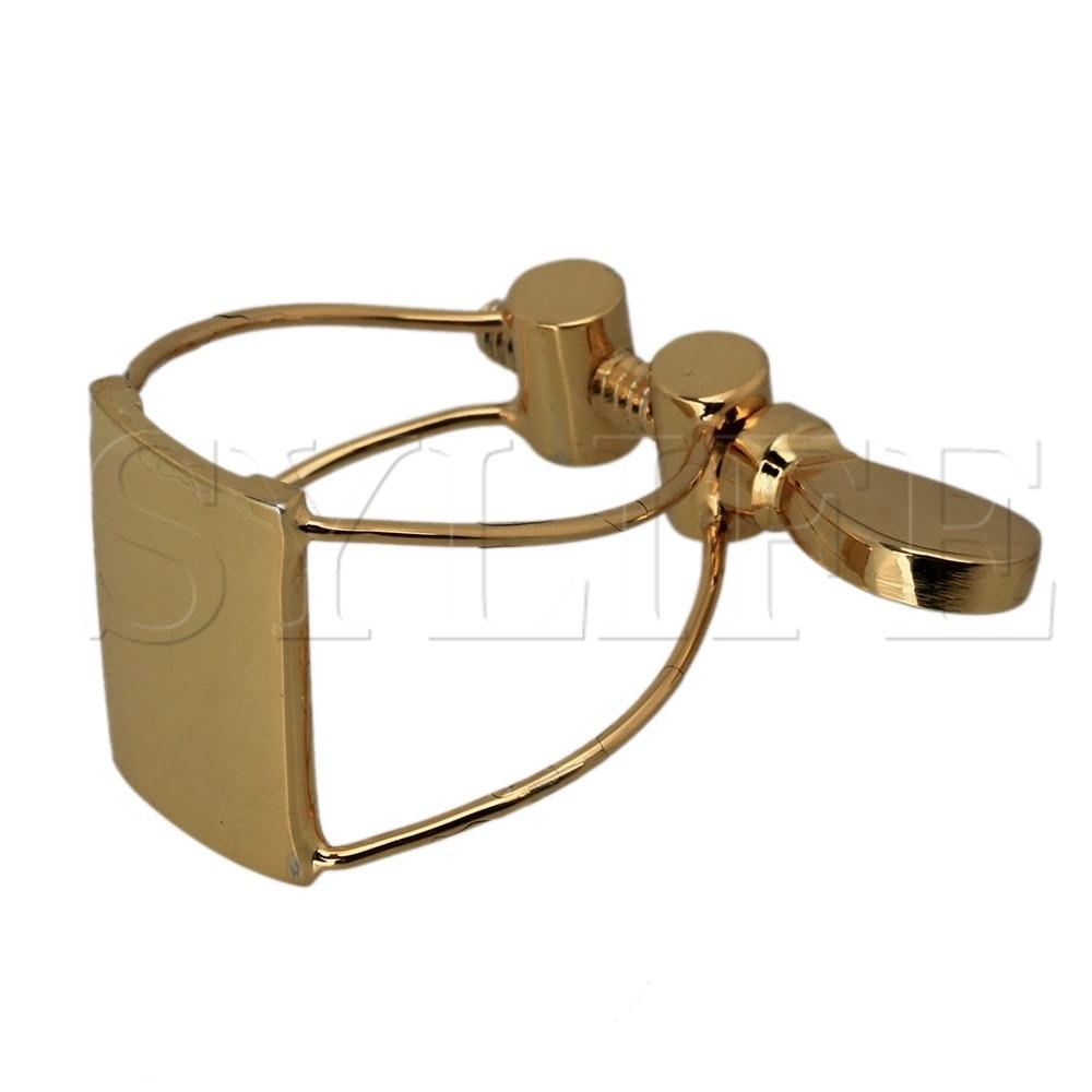Clip de boquilla de saxofón de paso alto de Metal con tarjeta de mariposa, accesorio chapado en oro