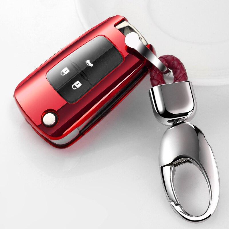 Bonito novo tpu macio caso chave do carro capa completa para buick chevrolet cruze opel vauxhall mokka encore escudo chave automóvel acessórios