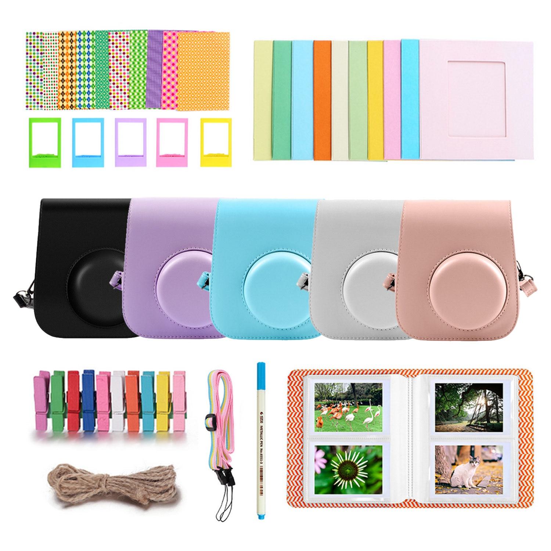 Besegad 40PCS Camera Accessories Kit with Photo Frame Album PU Case Stickers Strap for Fujifilm Instax Mini 11 Instant Camera