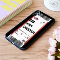 for iphone manchester boarding pass flight ticket print soft matt apple iphone case 6 7 8 11 12 plus pro x xr xs max se