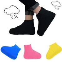 1 pair lowhigh tube waterproof rain shoes covers reusable latex slip resistant rubber rain boot overshoes shoes accessories