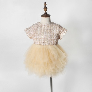 WLG baby girls summer princess tutu dresses kids patchwork mesh tutu dress toddler cute party clothes for 1-5 years