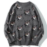 sweater men harajuku anime hip hop streetwear men clothing spandex pullover o neck oversize fashion casual couple male sweaters