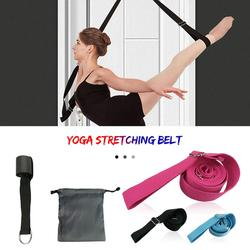 Yoga ballet faixa flexibilidade alongamento perna maca cinta esportes ajustável exercício macio perna cinto para ginástica