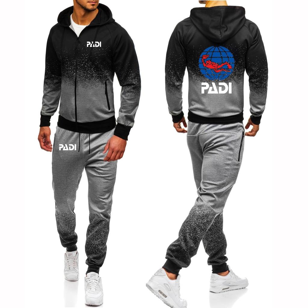 2021 мужской костюм для водителя акваланга Padi с принтом логотипа градиентные мужские толстовки спортивные брюки комплекты детской популярно...