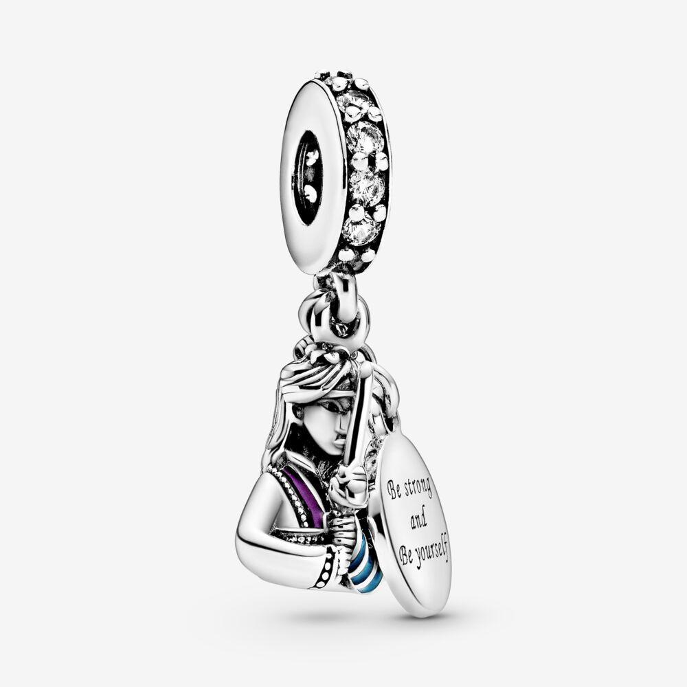 2021 Новое поступление S925 стерлингового серебра бусины синие Мулан свисающие Подвески подходят оригинальные браслеты Пандора Женские ювели...