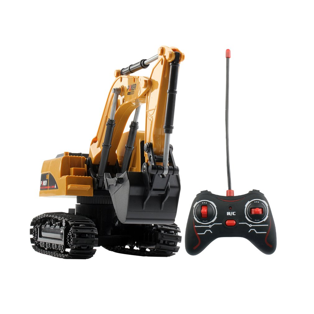 RC Trucks Mini Remote Control Bulldozer 1:24 5CH Plastic Engineering Car Dump Truck Crane Excavator Electric Vehicle Toys Gift