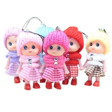 5Pcs 8cm Mini Plush Keychain Anime Stuffed Dolls For Girls and Boys Soft Interactive Colorful Gift Girl Baby Mini Dolls Y109