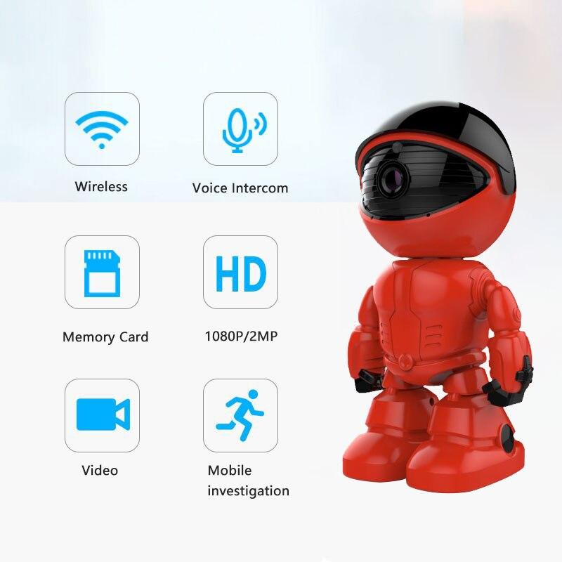 1080P WiFi IP Kamera 2MP Cloud Home Security Roboter Intelligente Auto Tracking Kamera nachtsicht Motion Erkennung Zwei weg audio