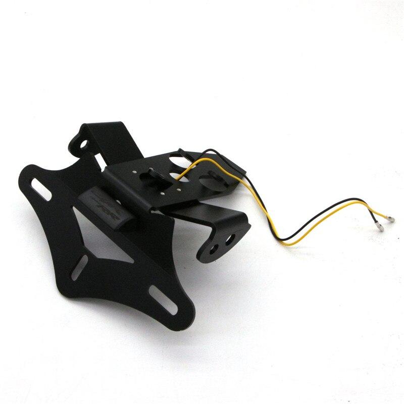 Para Honda CBR1000RR CBR 1000 RR 2008, 2009, 2010, 2011, 2012, 2013, 2014, 2015, 2016, soporte para matrícula marco con luz LED