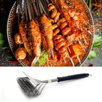 bbq tools grill cleaning brush stainless steel bbq grill cleaner barbecue cleaning brush for home cleaning barbecue accessories