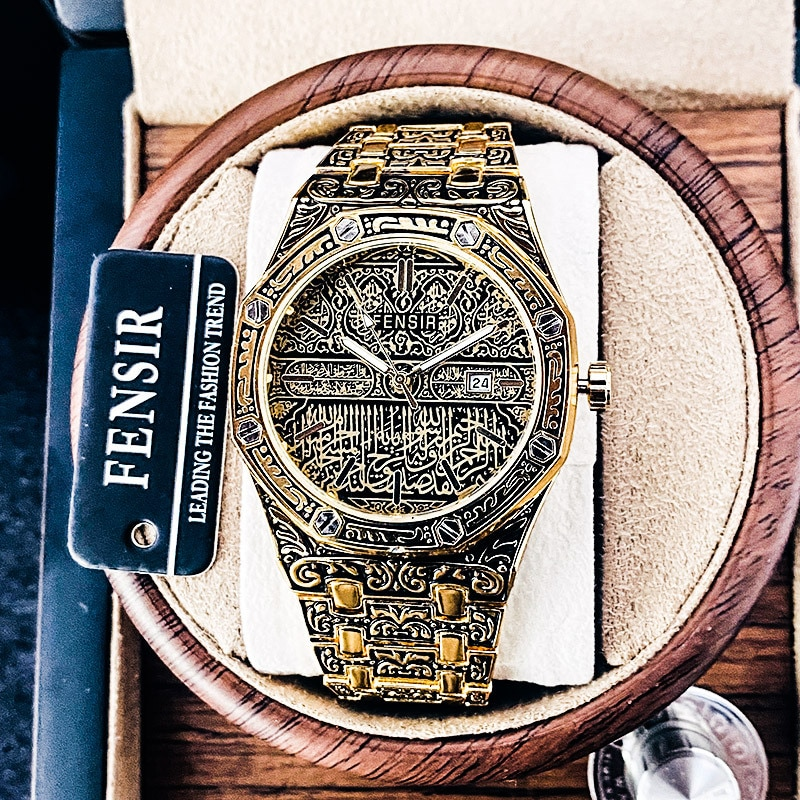2021FENSIR Luxury Designer Brand Relief Corrosion Surface Creative Carving Stainless Steel Fashion M