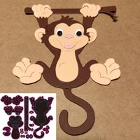 new animals monkeys metal cutting die scrapbook for photo album paper diy gift card decoration embossed dice