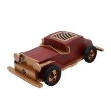 AS60 Bluetooth Speaker Wooden Retro Old Car Wireless Mini Sound Box with TF Card USB AUX FM Radio
