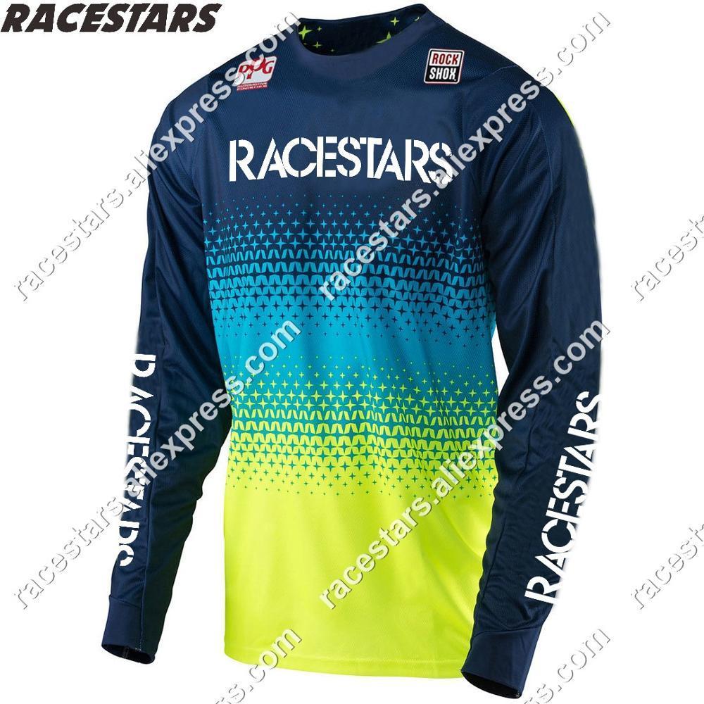 Nuevo RACESTARS carretera Camiseta de Motocross MX Ropa abajo Camiseta Ropa MTB...