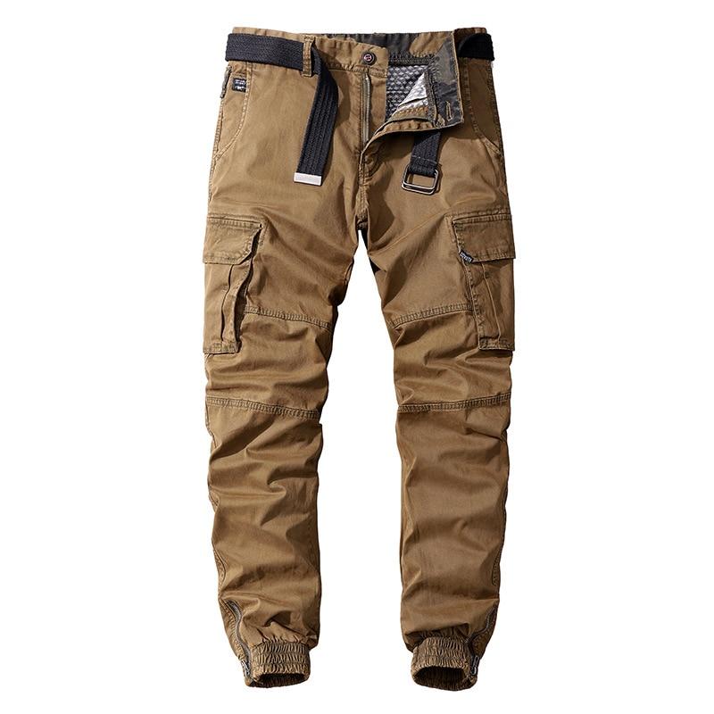 Мужские повседневные хлопковые Джоггеры в стиле милитари, уличная одежда 2020, брюки-карго большого размера, армейские брюки для мужчин, такт...