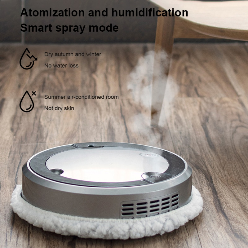Automatic Sweeping Robot Vacuum Cleaner Smart Spray Humidification Intelligent Vacuum Cleaner UV Disinfection Double Cleaning