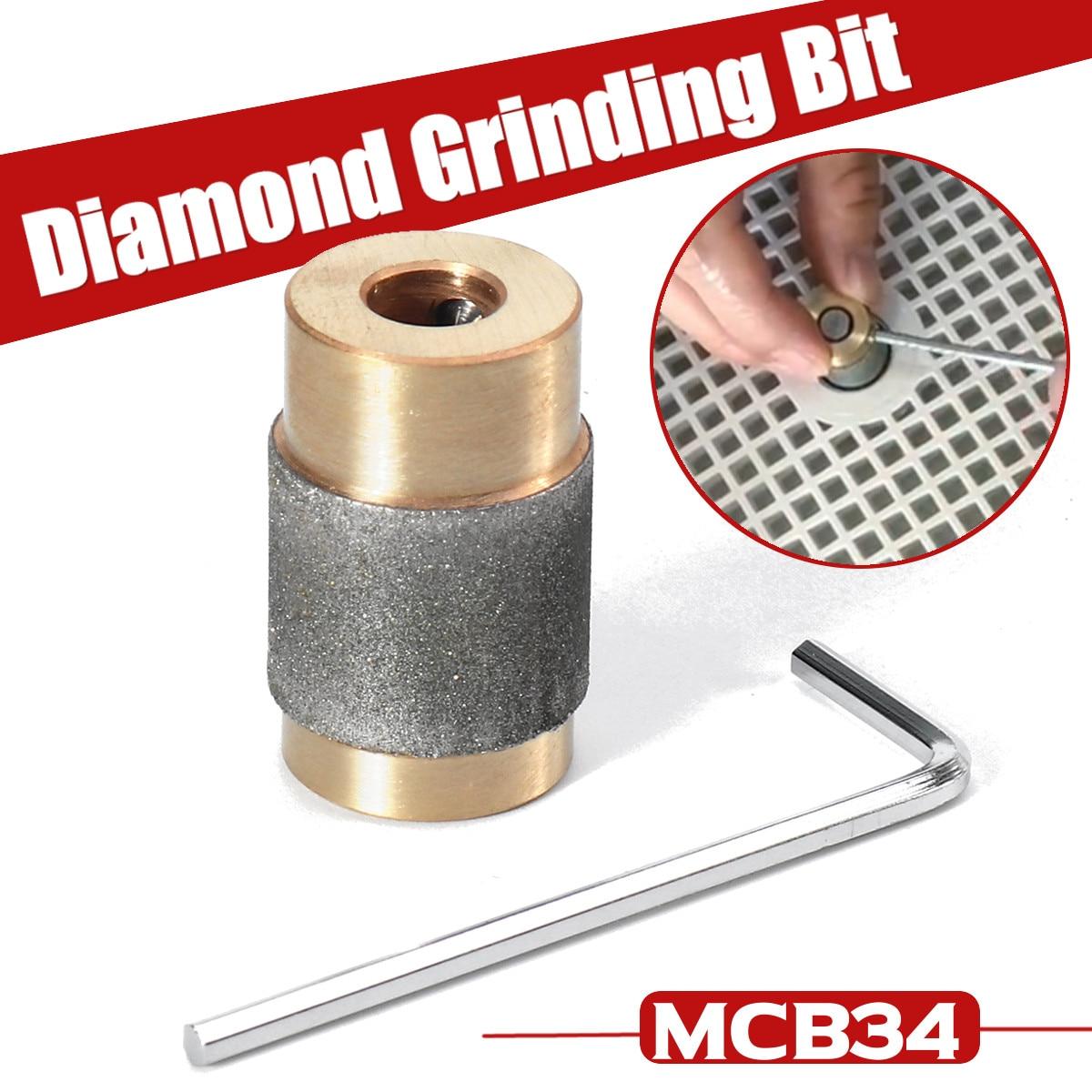 3/4 pouce MCB34 meule en laiton noyau Standard grain teinté vitrail broyeur tête diamant cuivre broyeur