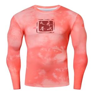Mens Fitness Long Sleeves T Shirt Men Running Bodybuilding Tight  Compression Shirts Gym Workout T-Shirt Sport Jogging Top Shirt