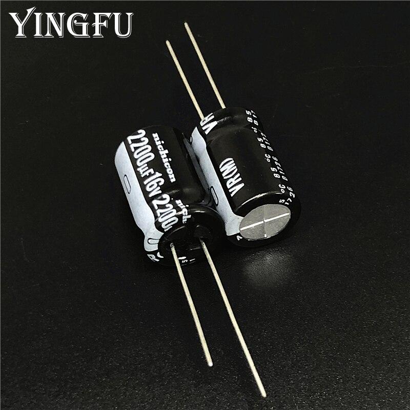 50 Uds 2200uF 16V NICHICON VR serie 12,5x20mm 16V2200uF condensador electrolítico de aluminio