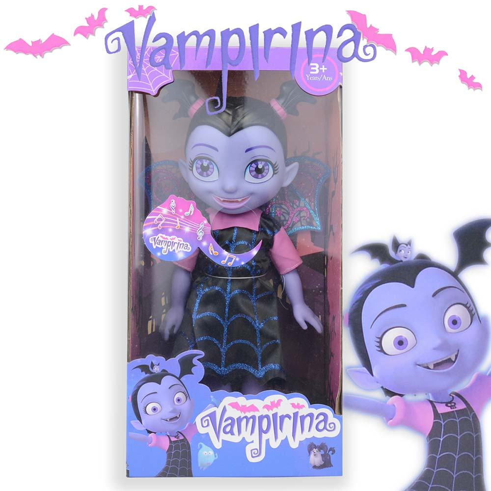 34cm Vampire Toys Junior Vampirina Surprise Dolls With Light Music Toys Vamp Batwomans Girl Figure Toys For Children Brinquedos