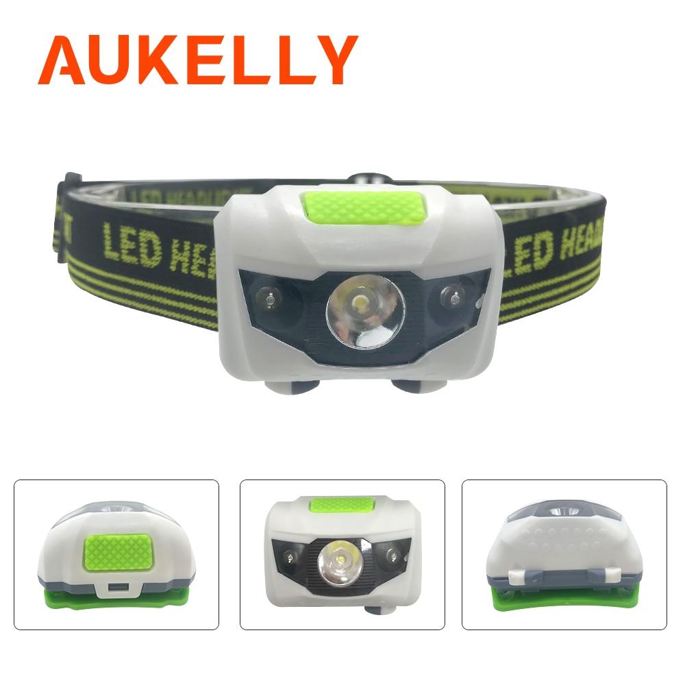 Travel Mini 4 Modes Headlamp Lightweight Headlight LED  headlamp Head lamp Running  Camping Head light  AAA Battery