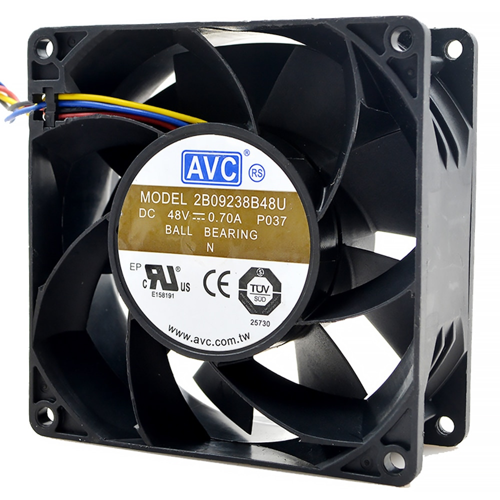 Brand New For AVC 92*92*38 2B09238B48U 9238 48V 0.7A 4-wire radiator fan for communications-equipment
