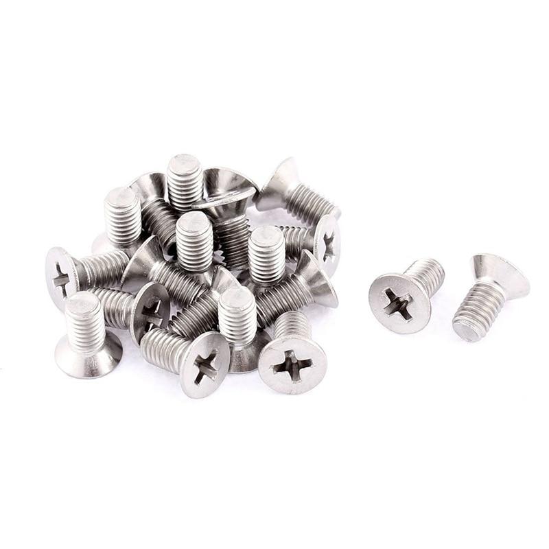 Tornillos pernos de máquina avellanados cabeza redonda Phillips M5 x 10mm 20 piezas