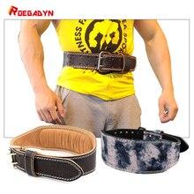 ROEGADYN haltérophilie ceinture de gymnastique dos soutien Fitness taille soutien ceinture de gymnastique pour hommes gymnastique ceinture de corps taille formateur cuir