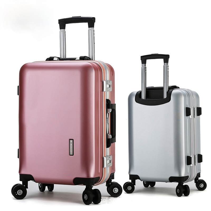 20/22/24/26/28 Inches New Multifunction Travel Suitcase Rolling Luggage Spinner Password Trolley Aluminum Suitcase With Wheels