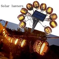 flashing flame solar light led light solar outdoor street garland led fairy light garden christmas lantern decoration navidad
