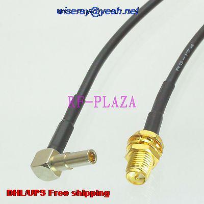 كابل توصيل ضفيرة ذكر إلى MS162 ذكر بزاوية 90 درجة ، 6 بوصات ، 100 قطعة ، DHL/EMS ، RG174