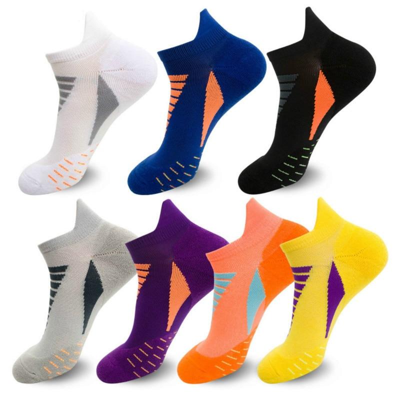 Professional Running Socks Cotton Thick Terry Socks Summer Basketball Tennis Men Sports Socks Shock Absorption Moisture Wicking