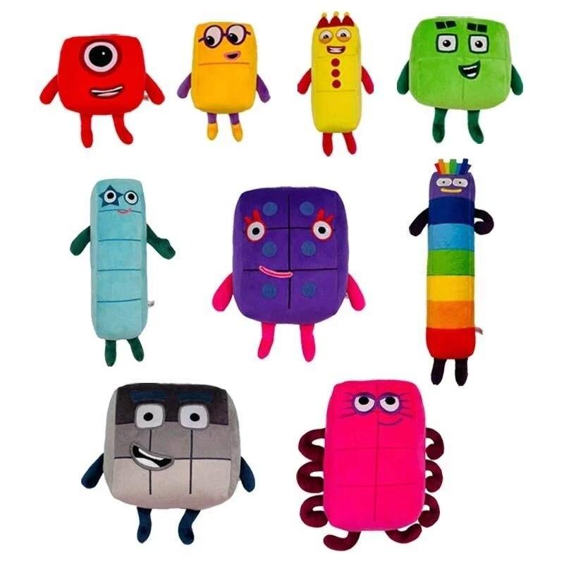 Плюшевая кукла, образовательные игрушки с цифрами, детские игрушки, подарок для детей, милые плюшевые игрушки