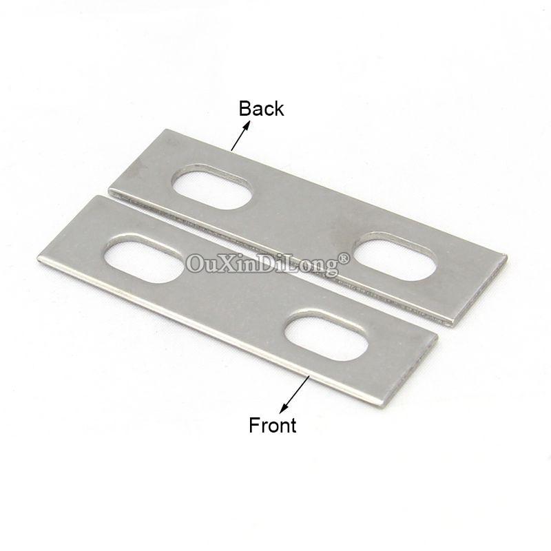 دعامة زاوية مستقيمة من الفولاذ المقاوم للصدأ 304 ، 50 قطعة ، إطار لوح ، أقواس دعم ، موصلات معززة