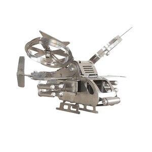 3D металлический Вертолет модель Собранный паззл ремесла игрушка-серебро