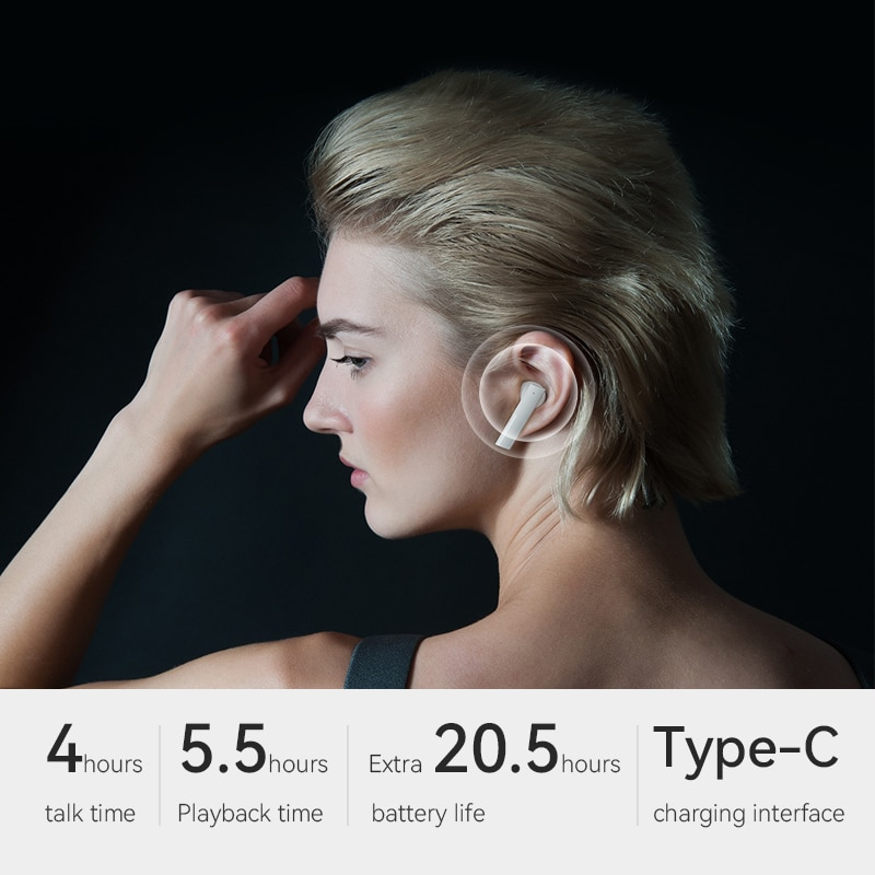 [World Premiere] Haylou GT6 Automatic Pairing Bluetooth 5.2 Earphones ,Mono and AAC Stero Sound Wireless Low Latency Headphones enlarge