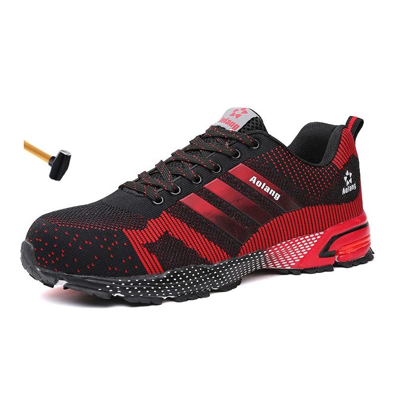 أحذية أمان رجالية في الهواء الطلق حذاء برقبة للعمل أحذية البناء الصناعي للرجال المضادة للثقب أحذية الصلب تو أحذية عمل الرجال
